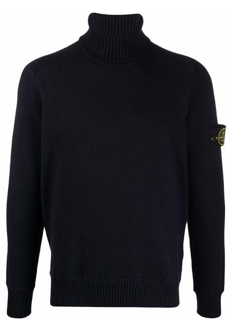 black cotton roll neck jumper  STONE ISLAND |  | 7515542A2V0020
