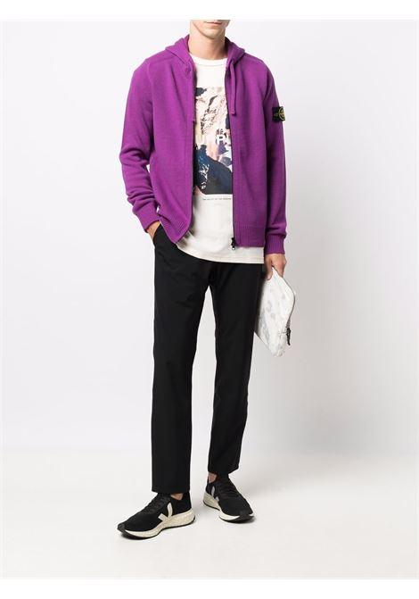 Magenta purple wool hoodie featuring Stone Island logo STONE ISLAND |  | 7515546A3V0045