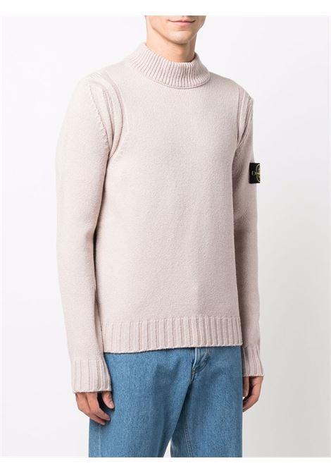 Beige pink silk and wool sleeve jumper STONE ISLAND |  | 7515557B2V0082