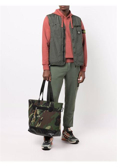 Pantaloni sportivi con tasche cargo in cotone verde STONE ISLAND | Pantaloni | 751564520V0055