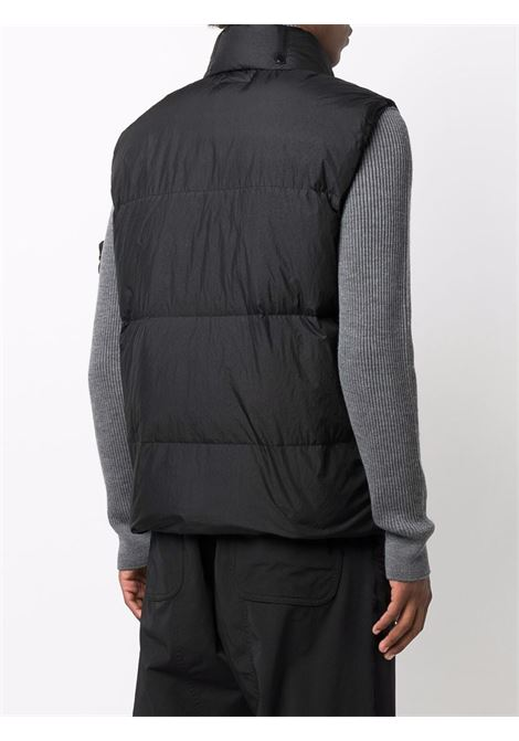 Black padded gilet featuring down-feather filling STONE ISLAND |  | 7515G0123V0029