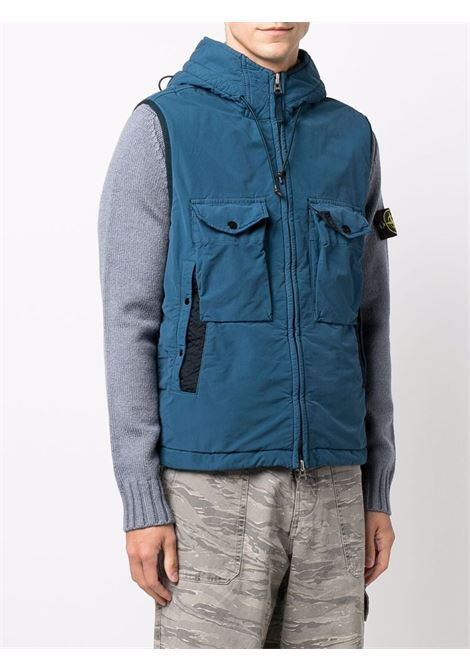 Blue gilet featuring Stone Island logo patch to the side STONE ISLAND |  | 7515G0931V0023