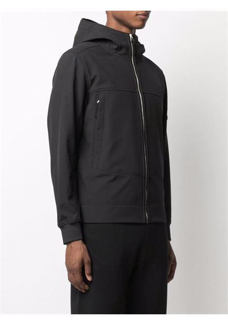 felpa nera con zip con cappuccio classico STONE ISLAND | Giubbini | 7515Q0122V0029
