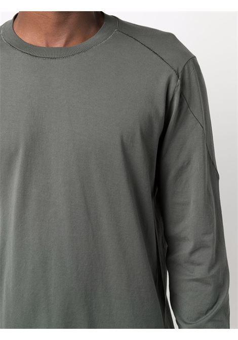 T-shirt a maniche lunghe in cotone verde scuro TRANSIT | T-shirt | CFUTRP-1362U07
