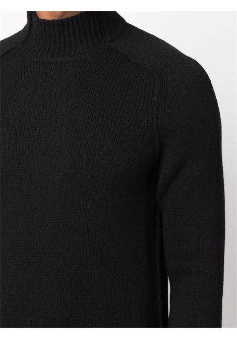 Maglia nera a coste in lana vergine con collo alto TRANSIT | Maglieria | CFUTRP-19540U10