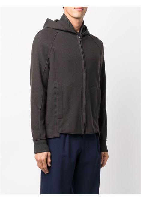 Black virgin wool slim-fit zipped hoodie  TRANSIT |  | CFUTRP-K201U04