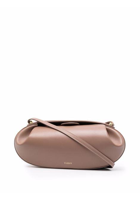 Brown pleat-detail shoulder bag YUZEFI |  | BATON-YUZPF21-HB-BT14
