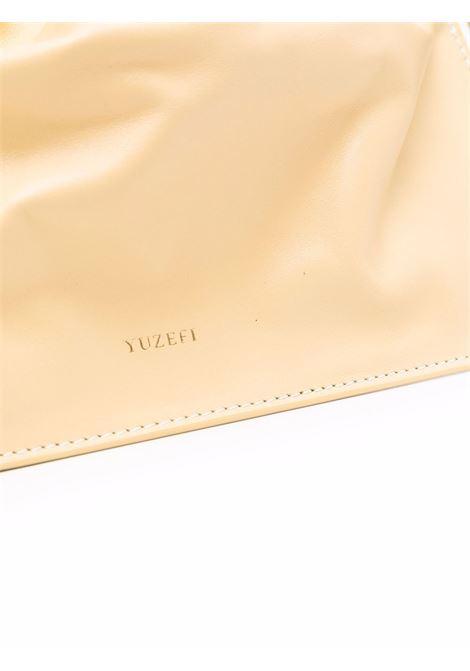 Straw yellow nappa leather Bom tote featuring Yuzefi logo  YUZEFI |  | BOM-YUZICO-HB-BO12