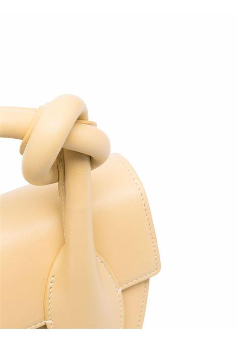 Straw yellow leather Dolores leather tote featuring Yuzefi logo  YUZEFI |  | DOLORES-YUZICO-HB-DL12