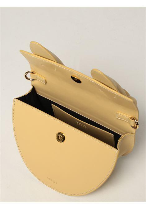 Borsa tote Dolores in pelle giallo paglierino con logo Yuzefi YUZEFI | Borse a mano | DOLORES-YUZICO-HB-DL12