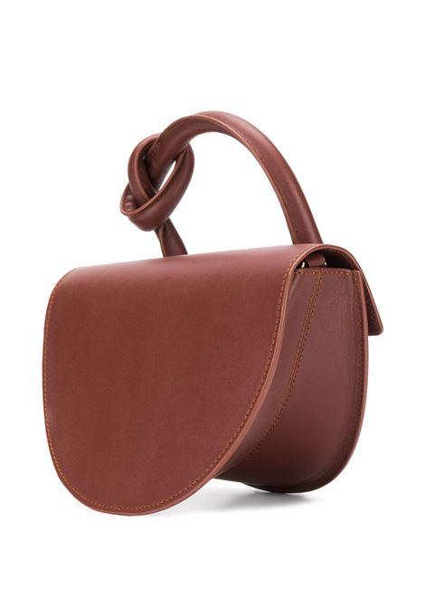 Taupe leather Mochi shoulder bag  YUZEFI |  | DOLORES-YUZPF21-HB-DL14