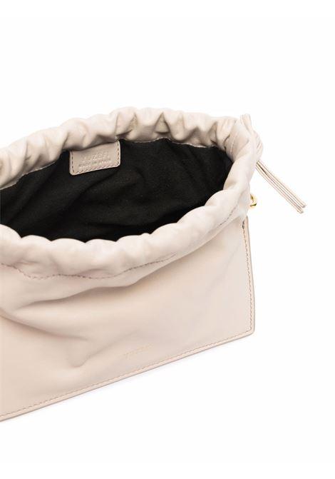 Tote bag Mini Bom in pelle color avena con catena dorata YUZEFI | Borse a mano | MINI BOM-YUZICO-HB-MB01