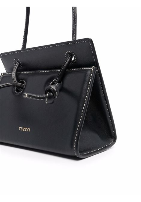 Black leather Taco mini bag featuring debossed Yuzefi logo YUZEFI |  | MINI TACO-YUZICO-HB-TM00