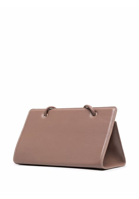 Brown leather Taco tote bag  YUZEFI |  | TACO-YUZPF21-HB-TC14