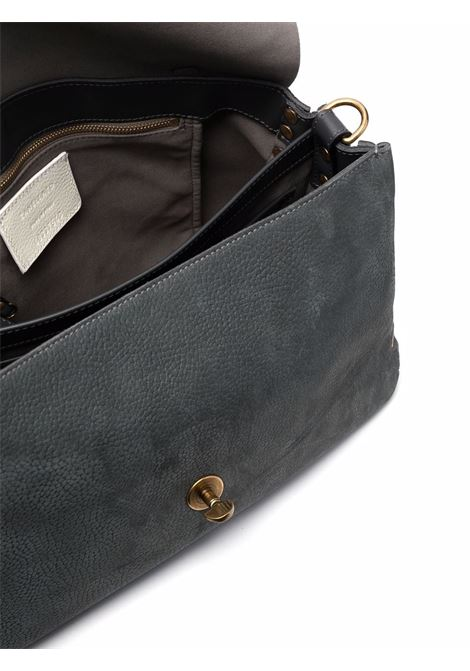 Grey suede and leather Postina top-handle tote  ZANELLATO |  | 6805-43Z0011