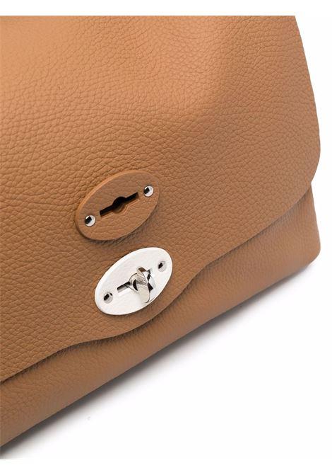 Borsa messenger Postina piccola in pelle texture marrone chiaro ZANELLATO | Borse a tracolla | 6806-PDZ9991