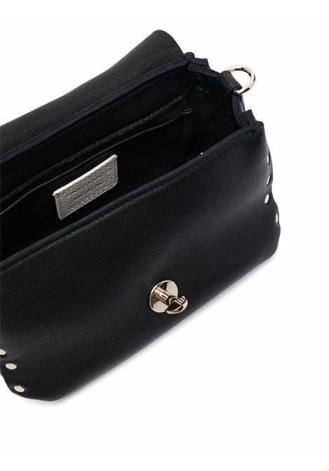 Borsa tote baby Postina S Heritage in pelle nera con borchie argento ZANELLATO | Borse a tracolla | 6807-HRZ0009