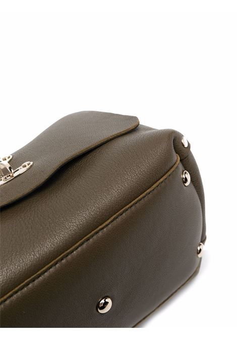 Borsa tote Postina S Heridate baby in pelle verde con borchie argento ZANELLATO | Borse a tracolla | 6807-HRZ9987