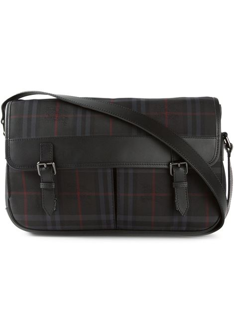 Black leather 'Horseferry Check' messenger bag BURBERRY |  | 3956776-ML GROVERGRIGIO ANTRACITE