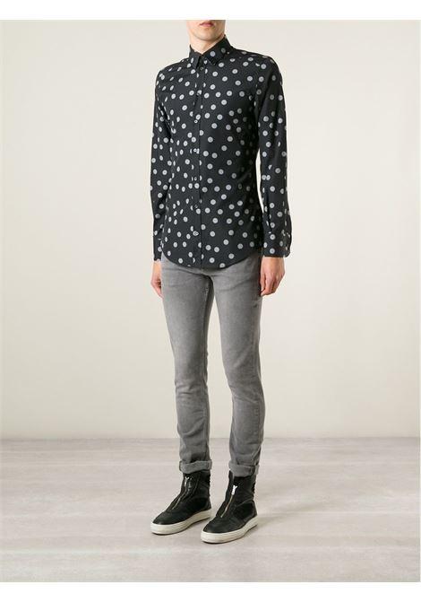 grey polka dot black cotton shirt DOLCE & GABBANA |  | G5CP0T-FS5Q8NERO-GRIGIO