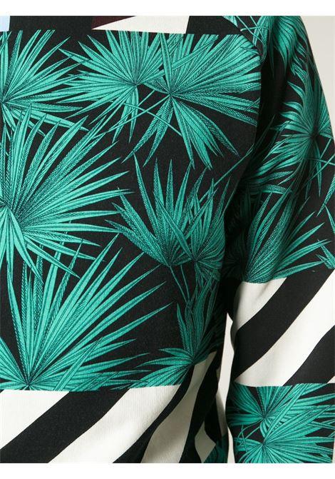 felpa multicolor e multiprint verde bianco e nero MSGM | Maglieria Moda | 1840MM107A-154018VERDE -NERO