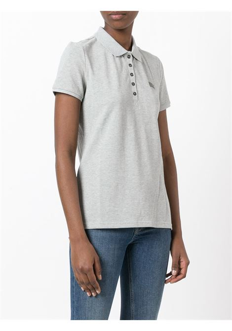 Grey cotton blend embroidered Burberry logo polo shirt BURBERRY |  | 3955949-YNG85118GRIGIO CHIARO
