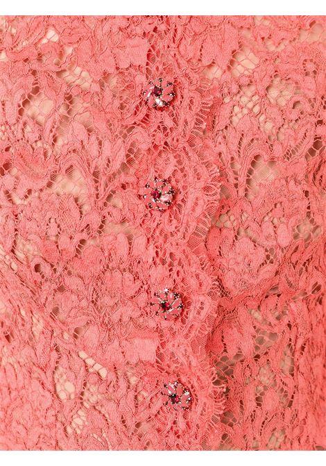 camcia corta in pizzo arancione DOLCE & GABBANA | Giacche | F5G31Z-FLM9VARANCIO