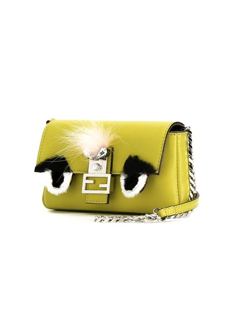 micro Baguette Bag Bugs in yellow lamb skin  FENDI |  | 8M0354-3ZQGIALLO