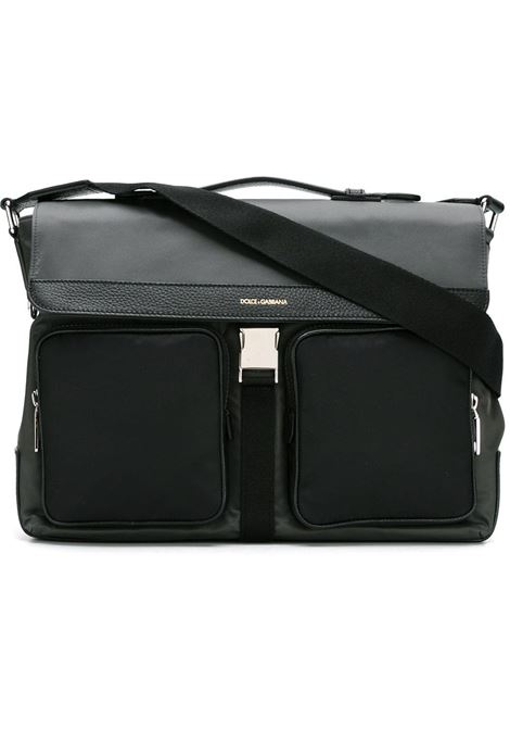 anthracite grey and black flap messenger bag  DOLCE & GABBANA |  | BM1413-AE8008B841