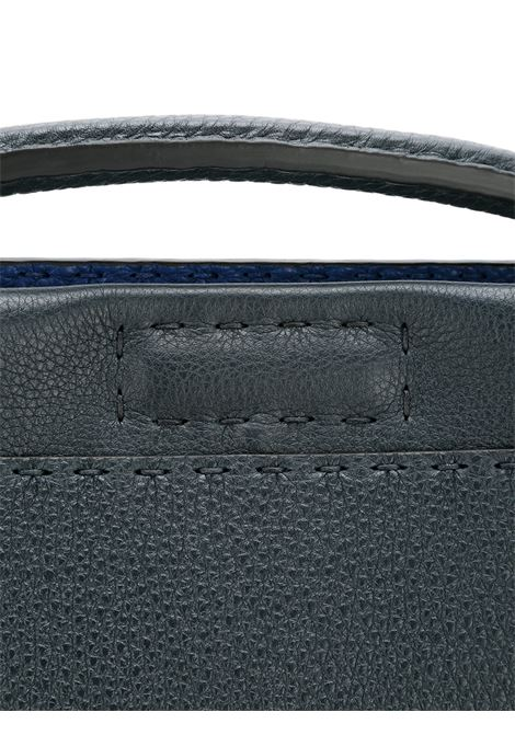 grey and blue leather Peekaboo briefcase with silver metal details FENDI |  | 7VA406-E21F0R29