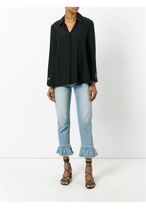 silk blend blouse features scalloped detail along the collar  FENDI |  | FS6791-O2RF0GME