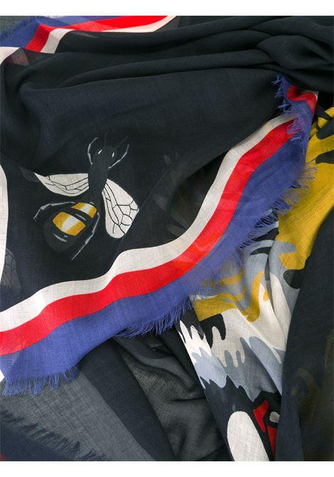 foulard di seta quadrato 140x140 multicolor ape e tigre stampata GUCCI | Foulard | 463510-4G8651000