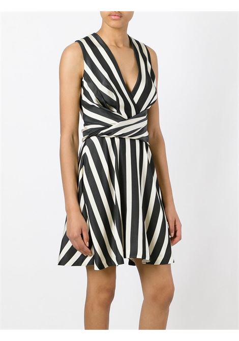 Black and white cotton striped flared sleveless mini dress MSGM |  | 2241MDA38-17411099