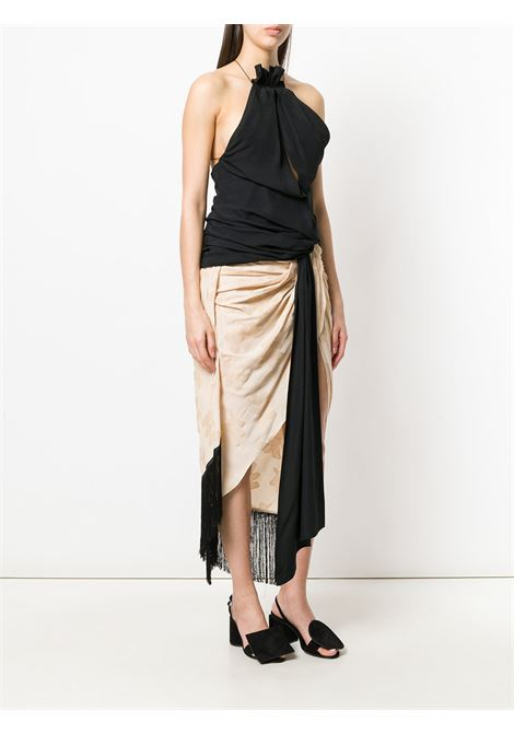 Asymmetrical sleeveless top in black cotton  JACQUEMUS |  | 182TO01-18221990
