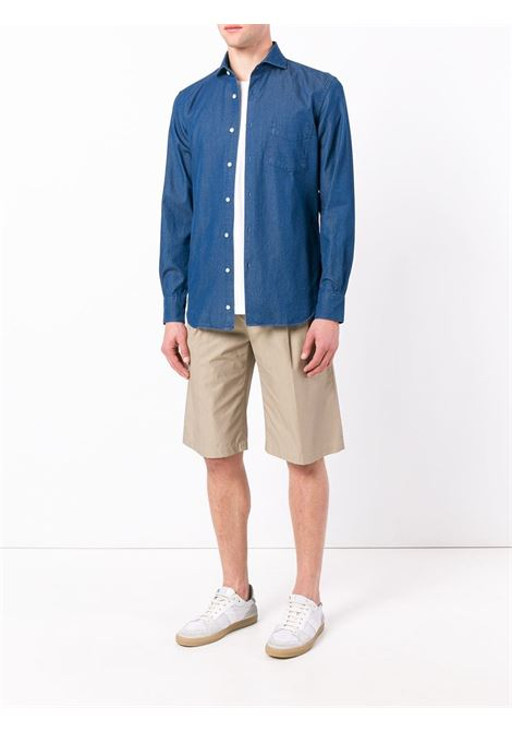 blue cotton jeans shirt featuring front pocket ASPESI |  | CE52-619151034