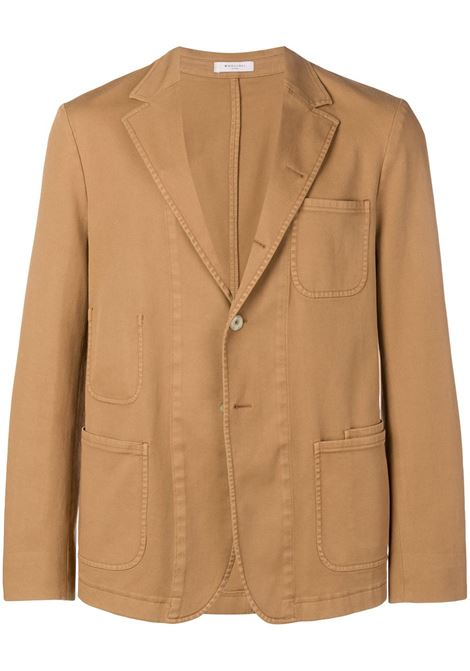 Brown cotton stretch classic fitted blazer BOGLIOLI |  | 0G050Q-BNC405312