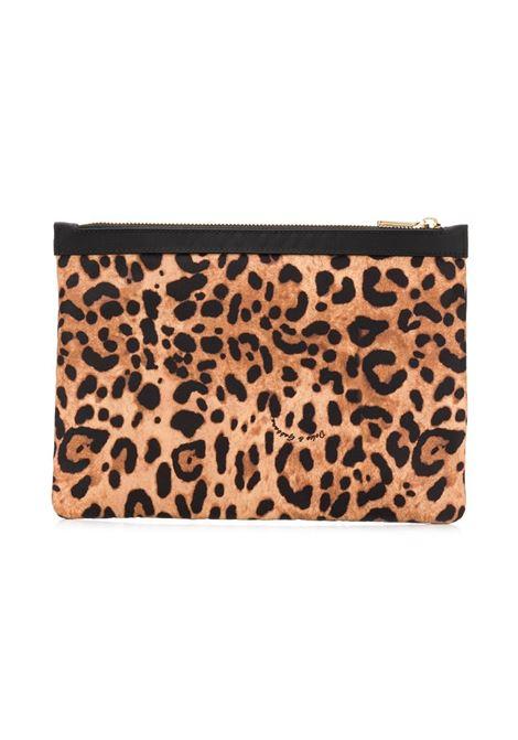 make up bag leopardata con logo Dolce & Gabbana DOLCE & GABBANA | Beauty | BI2262-AM115HA93N