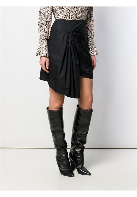 black cotton and silk draped mini-skirt GIVENCHY |  | BW407711PS001