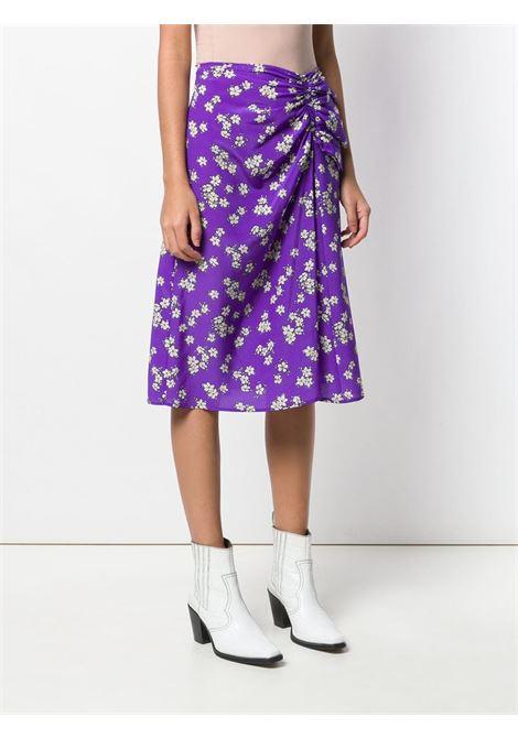 Purple silk floral skirt featuring a gathered design P.A.R.O.S.H. |  | D620313-SAPORE844