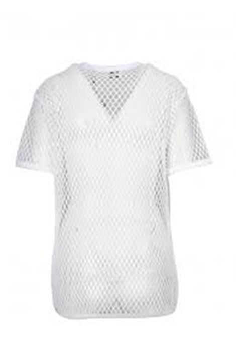 oversized optic white crew neck cotton mesh t-shirt BURBERRY |  | 4549460-M84C810700