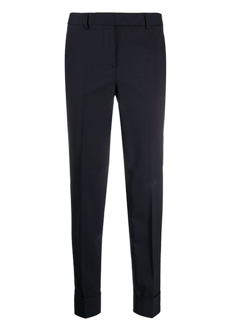 Blue wool-blend slim tapered-leg trousers  ALBERTO BIANI |  | CC813-WO025180
