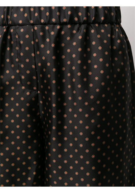 Brown silk blend polka dot shorts  ALBERTO BIANI |  | CC846-SE310390
