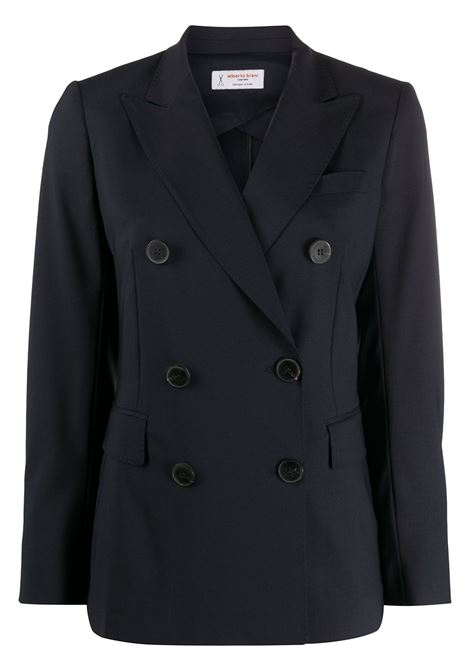 Dark blue virgin wool tailored double-breasted jacket  ALBERTO BIANI |  | II821-WO025180
