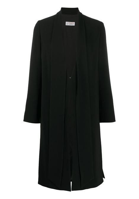 Black mid-length coat featuring a layered design ALBERTO BIANI |  | OO805-AC002890