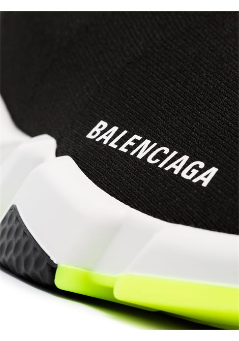 sneakers Speed di tela nera con gomma bianca e suola fluo BALENCIAGA | Scarpe | 551185-W05G01000