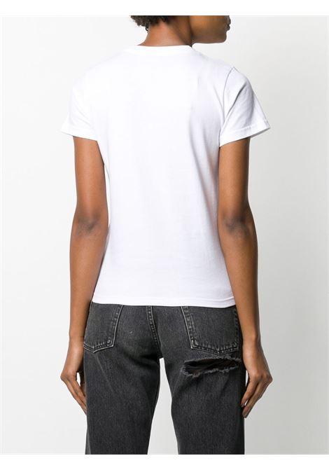 t.shirt bianca in cotone con logo BALENCIAGA | Maglieria Moda | 578133-TGV489000