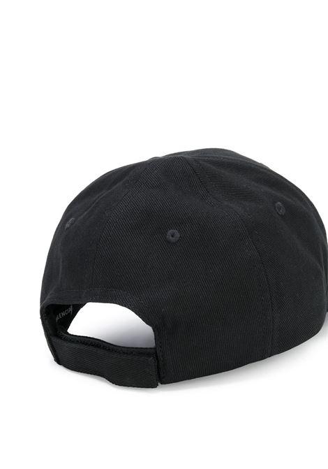 cappello con visiera nero e logo BB Balenciaga verde BALENCIAGA | Cappelli | 593188-410B21000