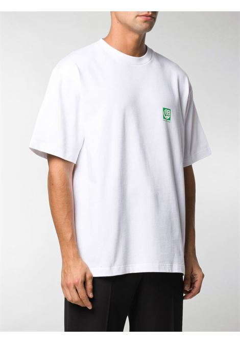 white cotton green Balenciaga logo t.shirt BALENCIAGA |  | 594579-THV639000