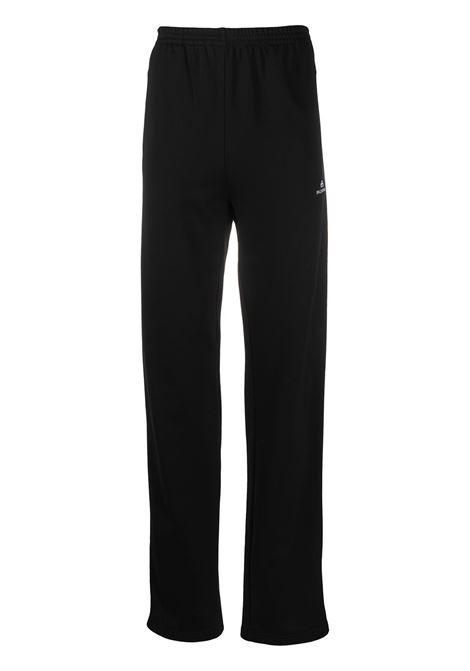 pantalone sportivo nero con banda laterale bianca BALENCIAGA | Pantaloni | 601609-TGV041070