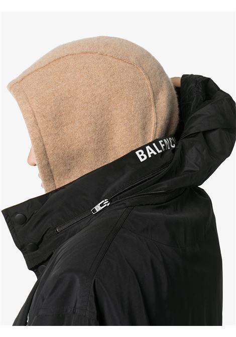 giacca a vento nera in nylon multilogo BALENCIAGA | Giubbini | 608796-TYD361000